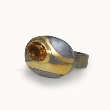 Pathways Citrine Ring